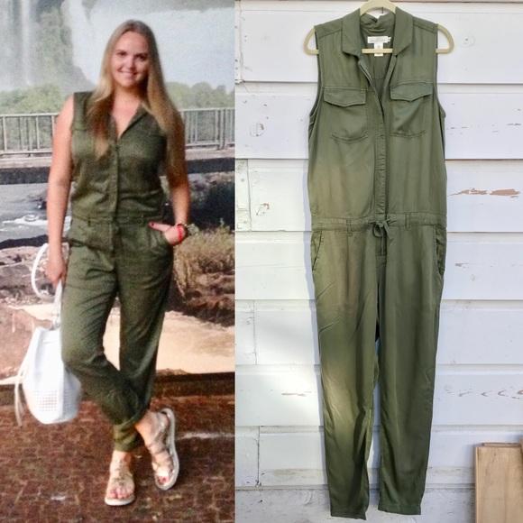570c25bef1d8 H M Pants - H M green jumpsuit